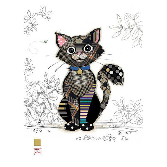 Bug Art Luxury Greetings Card - Kasper Kitten