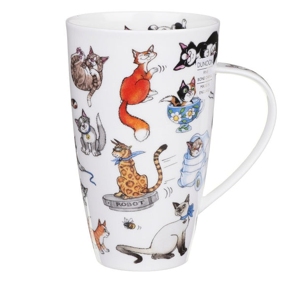 Dunoon Fine Bone China Large Cat Mug 'Catastrophe'