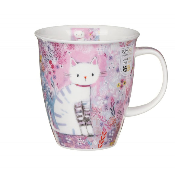 Dunoon Fine Bone China Cat Mug 'Tiddles' in Gift Box