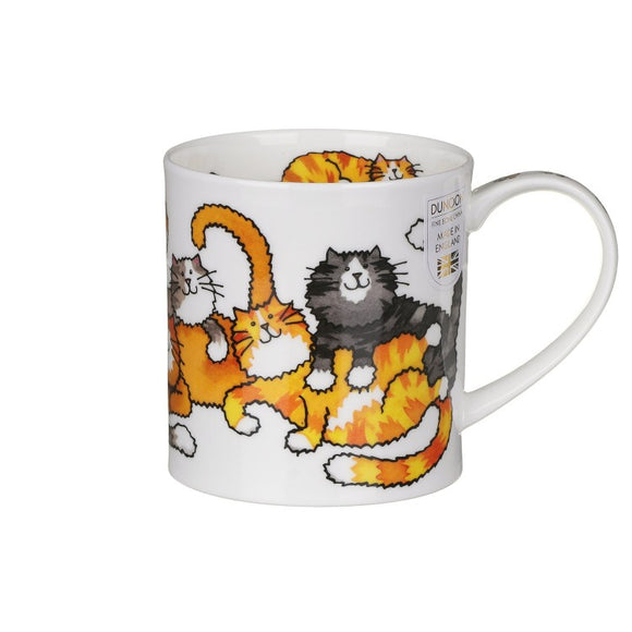 Dunoon Fine Bone China Mug 'Jumbled Cats' in Gift Box