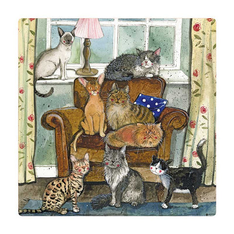 Alex Clark Fridge Magnet - Cat House