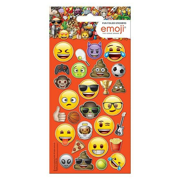 Emoji Smilies Fun Foiled Stickers, 28 Pack