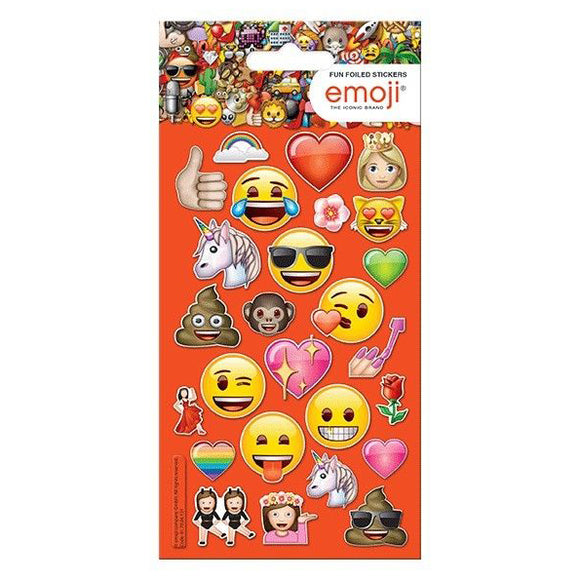 Emoji Girlie Fun Foiled Stickers, 26 Pack