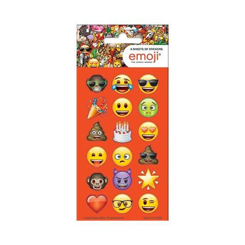 Emoji Stickers - Party Pack, 6 Sheets