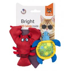 Fofos Bright Catnip Cat Toys - Lobster & Turtle