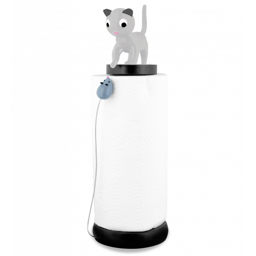 Charoule - Grey Cat Kitchen Paper Towel Roll Holder