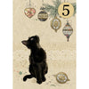 Bug Art Christmas Card - Kitten Decorations (5 Pack)