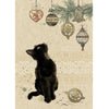 Bug Art Christmas Card - Kitten Decorations (Single)