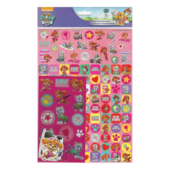 Nickelodeon Paw Patrol Mega Pack Stickers (Pink)