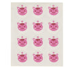 Pink Cat Face Stickers, 5 Sheets, 60 Stickers in Total
