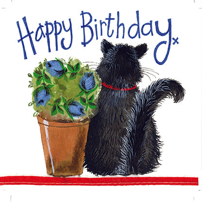 Alex Clark Little Sparkles Card - Puss & Pot