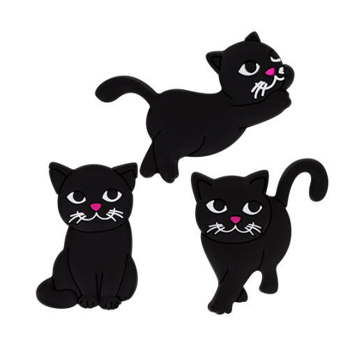 Happy Cats Set of 3 Magnets - Classic