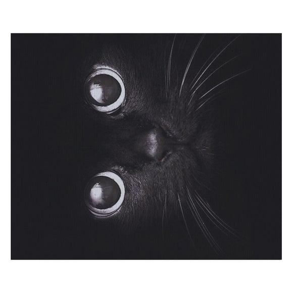 Kitty Cat Mouse Mat - Elegant Black Cat