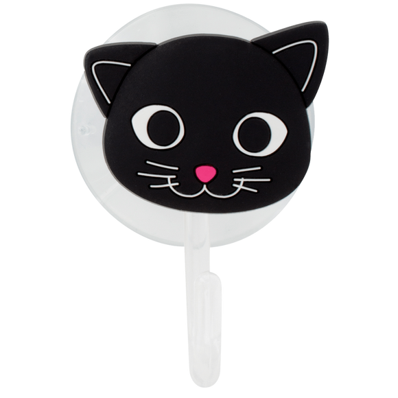 Ani-Holder Suction Hook - Black Cat