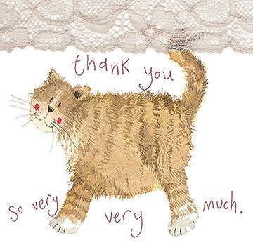 Alex Clark Little Sparkles Card - Thank You Cat