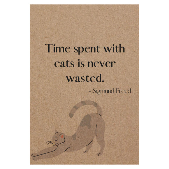 Exclusive Pocket Notebook 'Time Spent with cats...'