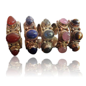Nepalese Delight Beads Ring in Rose Copper - LifeIsNowEmporium