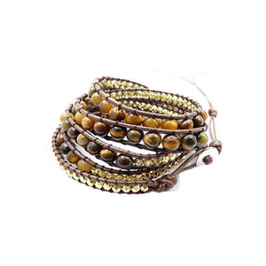 Handmade Tiger Eye Beads Bracelet - LifeIsNowEmporium