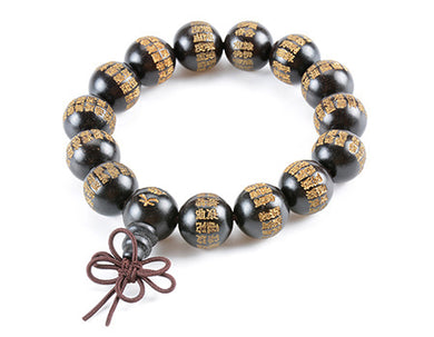 Great Compassion Mantra Bracelet in Ebony - LifeIsNowEmporium