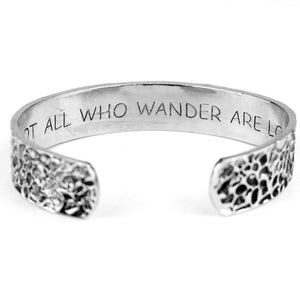 Not All Who Wander Are Lost Bangle - LifeIsNowEmporium