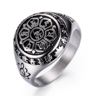 Six Words Mantra Ring 925 in Stainless Steel - LifeIsNowEmporium