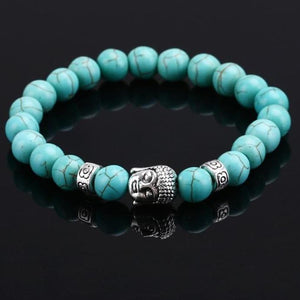 Natural Gem Stone Buddha Bracelet [5 Variants] - LifeIsNowEmporium