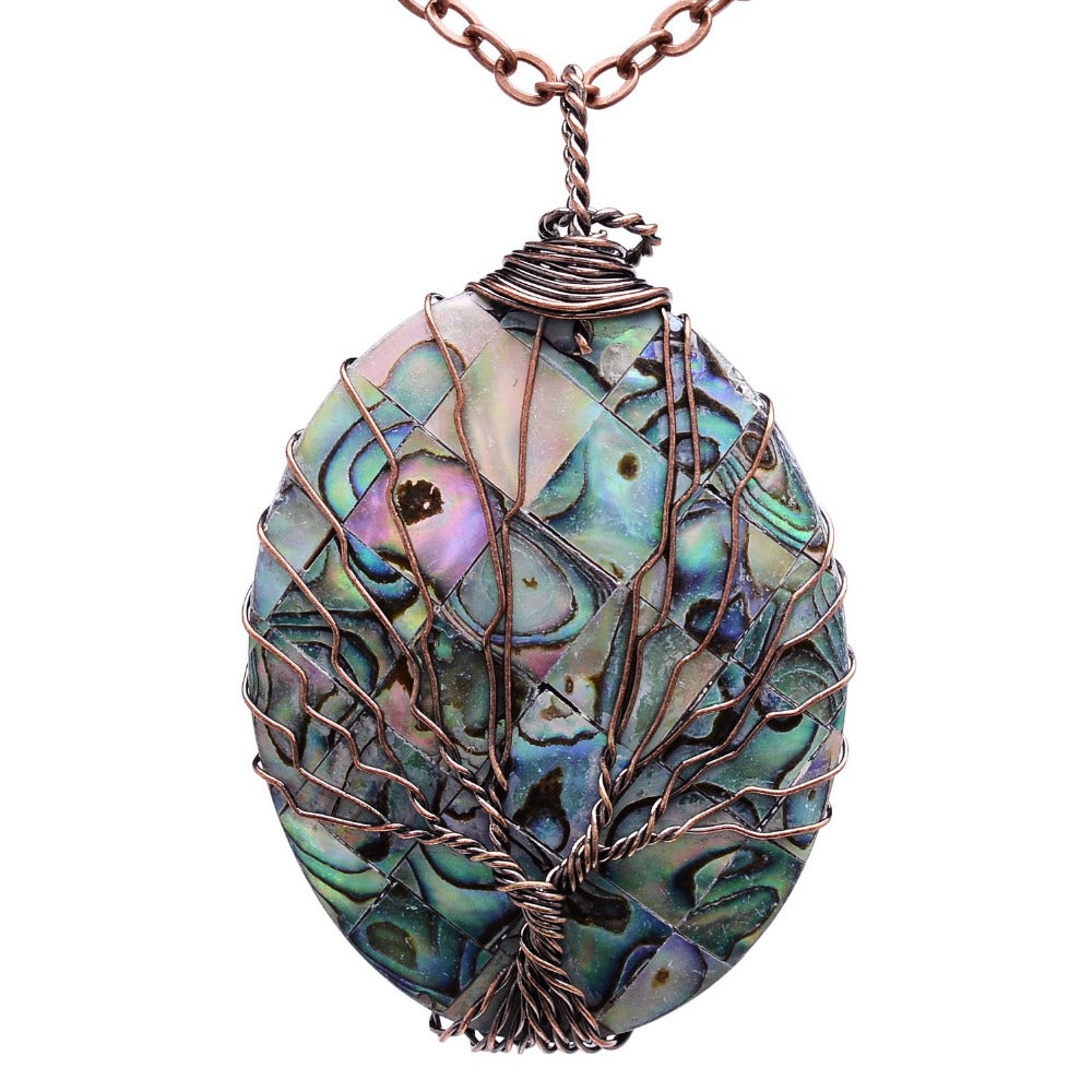 Handmade tree of life pendant in copper and abalone lifeisnowemporium handmade tree of life pendant in copper and abalone lifeisnowemporium mozeypictures Image collections
