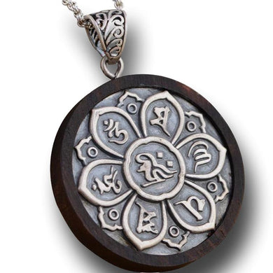 Six Words Mantra Pendant in 925 Silver - LifeIsNowEmporium