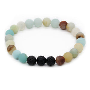 Essential Oil Diffuser 8mm Natural Lava Stone Beaded Bracelet [4 variants] - LifeIsNowEmporium