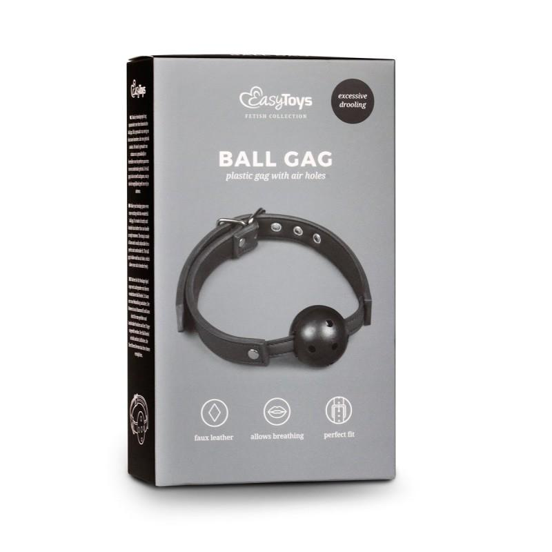 Ball Gag With Pvc Ball Musta - 4