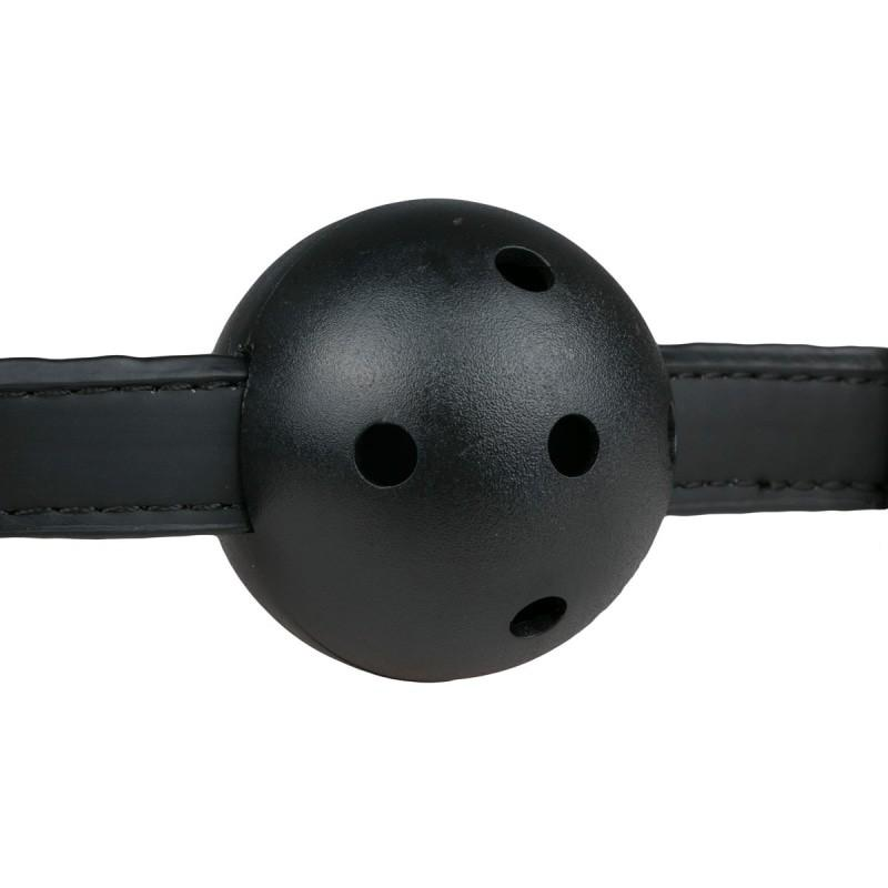 Ball Gag With Pvc Ball Musta - 3
