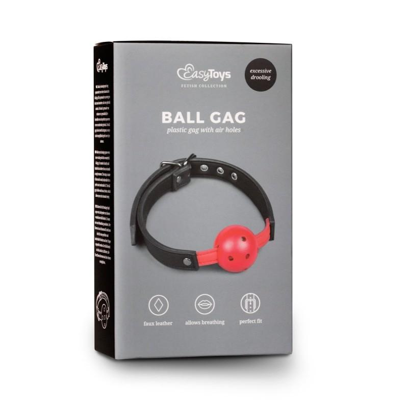 Ball Gag With Pvc Ball Red - 4