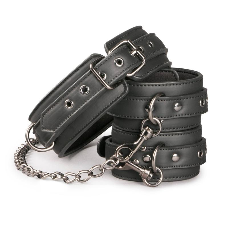 Easytoys Fetish Collection Collar & Ankle Restraint Set 1