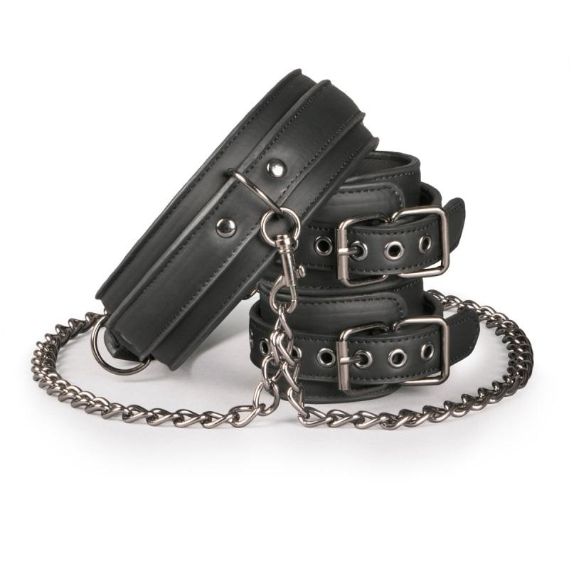 Easytoys Fetish Collection Collar & Wrist Restraint Set 1