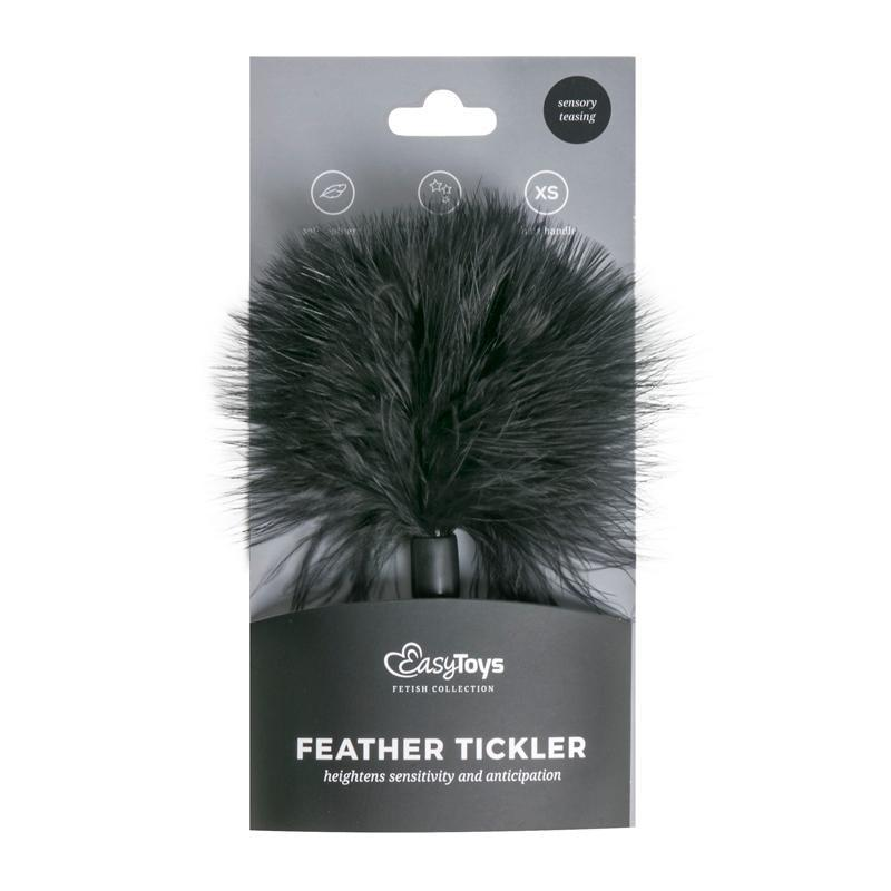 Small Feather Tickter - Black - Black