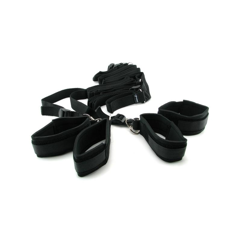 Fetish Fantasy Bed Restraint Bondage Kit - Musta