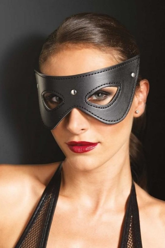 Faux Leather Mask - One Size / Black