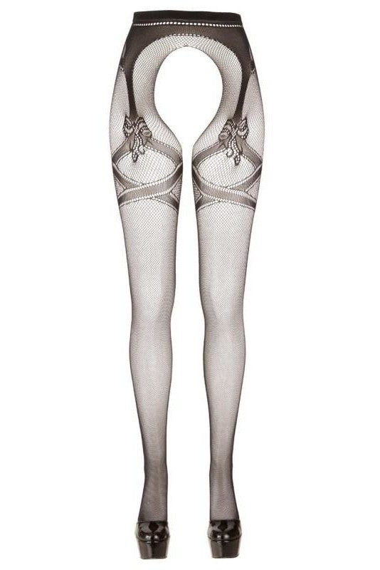 Pattern tights with open branch - 2