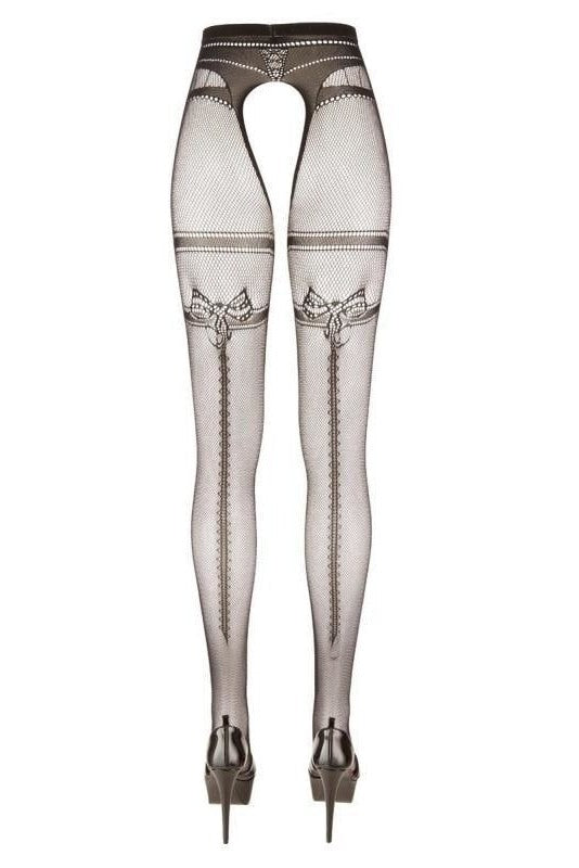 Pattern tights with open branch - 3