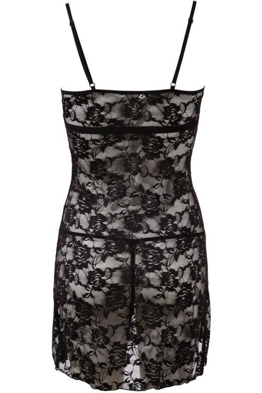 Black Lace Night Outfit - L / Black - 3