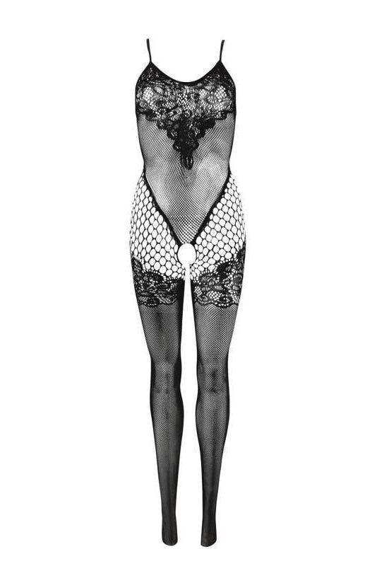 Catsuit Mesh With Open Crotch - One Size / Black - 3