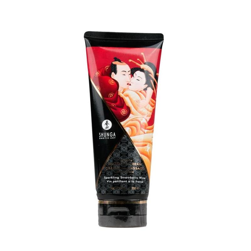 Shunga Kissable Hierontavoide 200 Ml - Mansikka - 4
