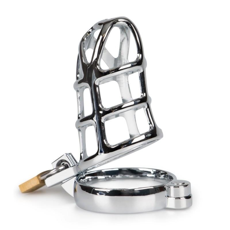 Chrome Chastity Belt with Buckle - 2