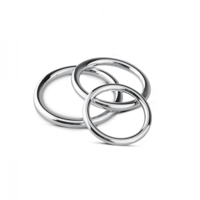 Cock / ball Ring & Glans Ring Set - Silver