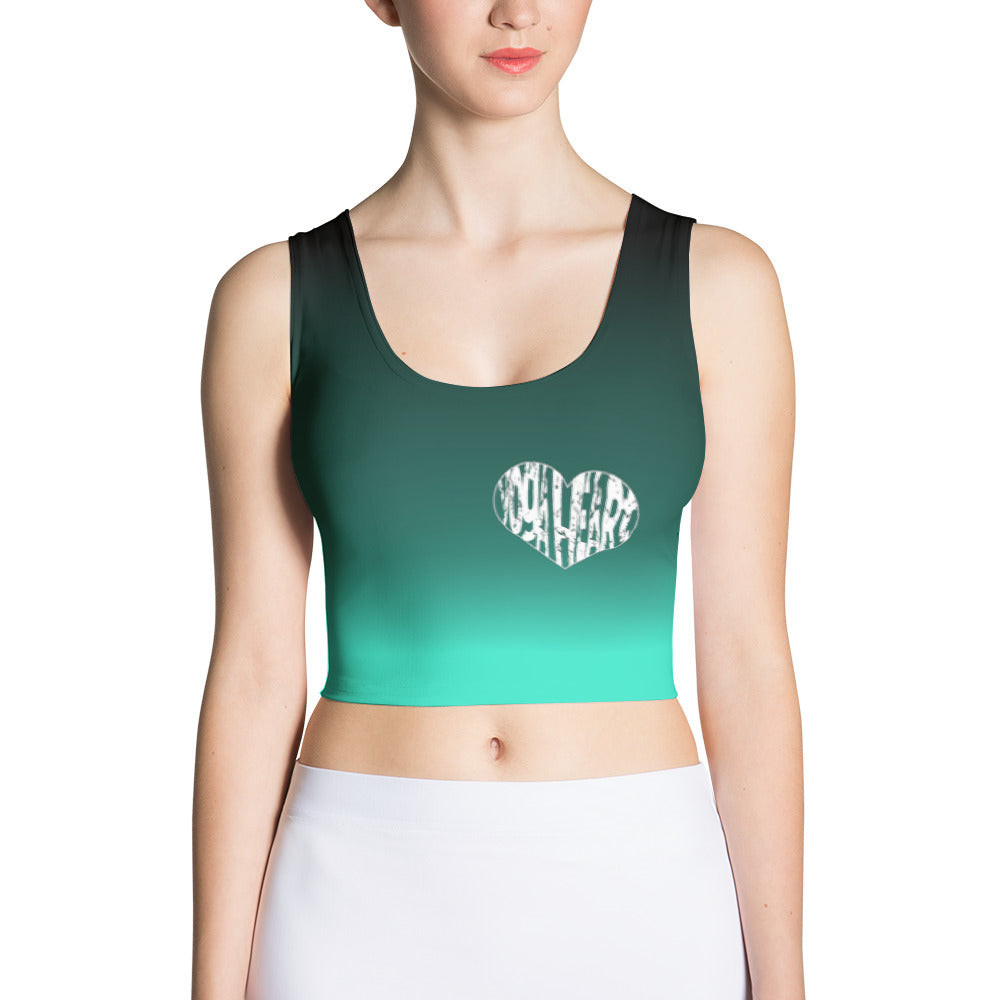 Yoga Heart fade Crop Top by Yoga Belly