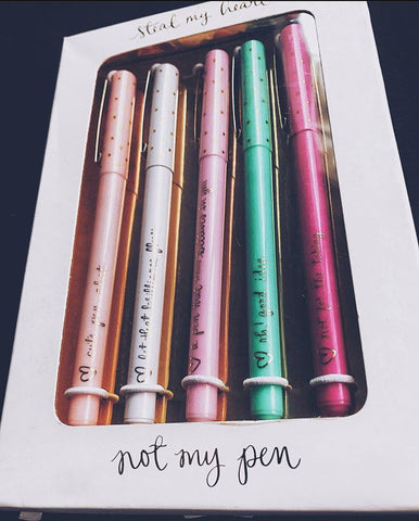 Steal My Heart - Not My Pen 5pk Pen Set