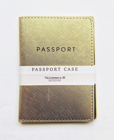 Passport Case - Gold