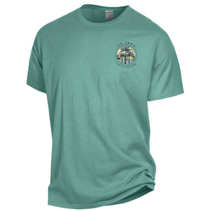 3 Palm Trees St. John Tee- Sage Green
