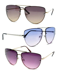 """Devon"" Flat Top Aviator Sunglasses"
