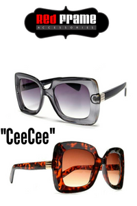 """CeeCee"" oversized square sunglasses"